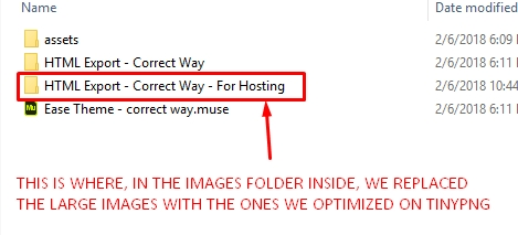 MuseShop.net tutorial - Images uploaded - Making sure we worked with the correct folder