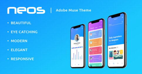 Neos Adobe Muse Theme by MuseShop.net - Product Image