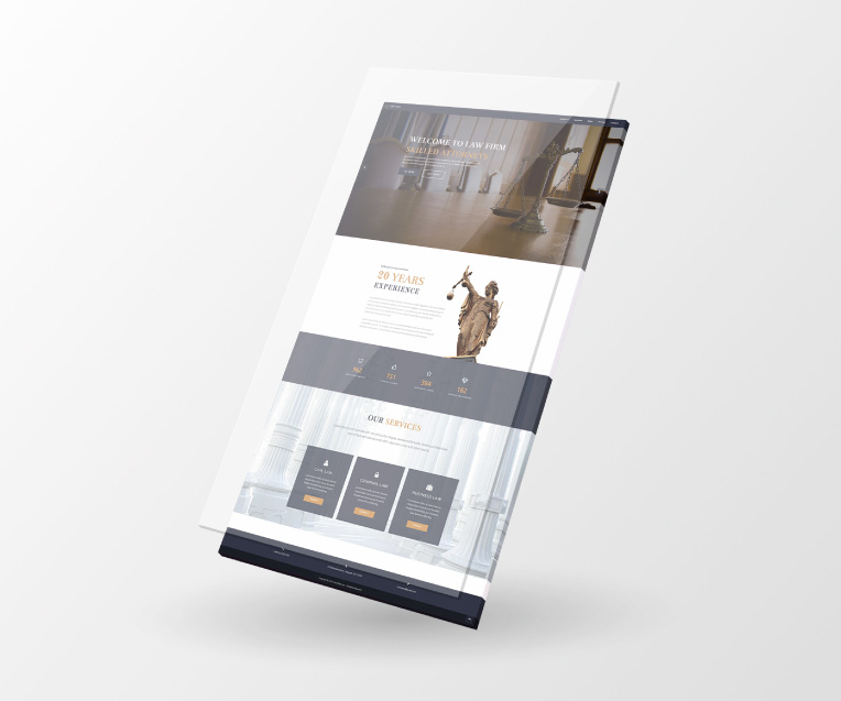 Law Firm Adobe Muse theme by MuseShop.net - Features 1 Image