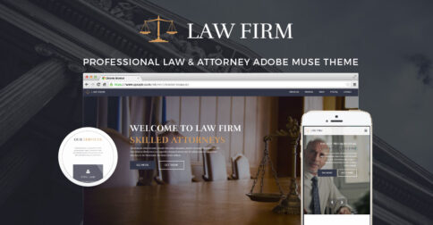 Law Firm Adobe Muse theme by MuseShop.net - Featured Image