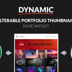 Dynamic Filterable Portfolio Thumbnails Adobe Muse Widget by MuseShop.net - Product Image